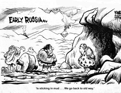 Early Russia cartoon